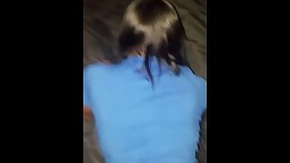 Ebony teen cheat on boyfriend while on the phone with him